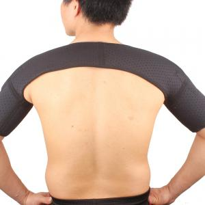 Shou Xin SX640 Sports Magnetic Double Shoulder Brace Support Strap Wrap Belt Band Pad - Black -