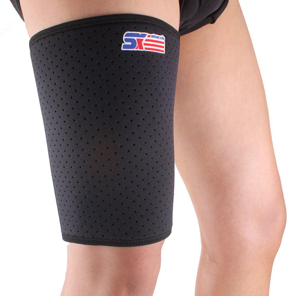 New Shou Xin SX650 Sports Badminton Elastic Stretchy Thigh Brace Support Wrap Band - Black