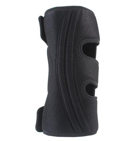 Fancy Shou Xin SX516 Adjustable Silicon 4 - Spring Sport Knee Guard Protector - Black