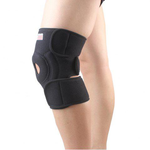 Best Shou Xin SX523 Classic Magnetic Adjustable 2 - Spring Sport Knee Guard Protector - Black