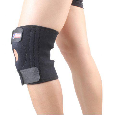Shou Xin SX524 Variable Silicone 4 - Printemps Genouillère Patella Guard - Noir