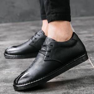 Men's Sneakers British Leather Male Wild Students Shoes -