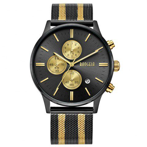 Sale BAOGELA 1611 Chronograph Men Watch with Multi-function Stainless Steel Mesh Band