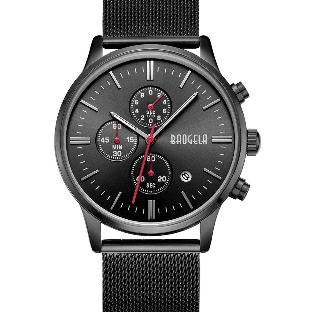 Buy BAOGELA 1611 Chronograph Men Watch with Multi-function Stainless Steel Mesh Band