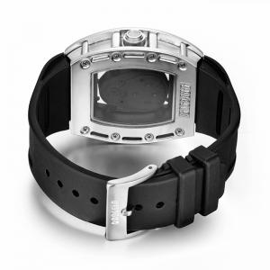 Baogela 1612 à la mode Creative Silicon Band Hommes Montre -