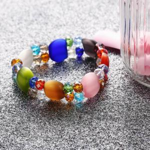 Fashion Colourful Elastic Beads Bracelets Cool DIY Craft Jewelry -