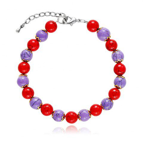 Fancy Fashion Red and Blue DIY Bead Bracelets Handmade Bangles