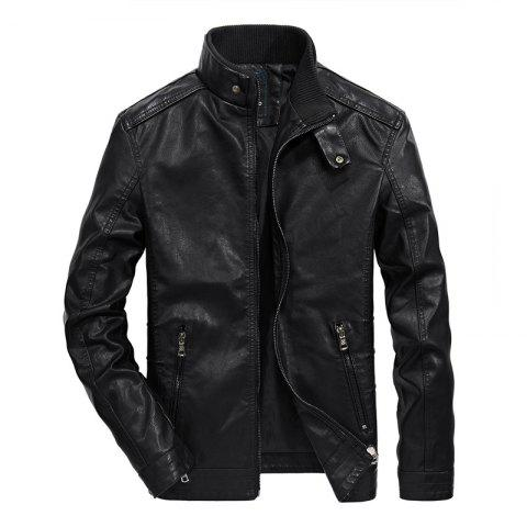 Shops Men Autumn Fashion Leather Jacket