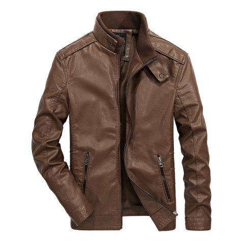 Shop Men Autumn Fashion Leather Jacket