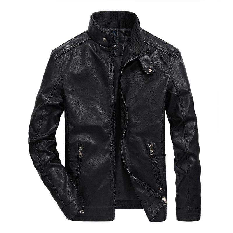 Store Men Autumn Fashion Leather Jacket