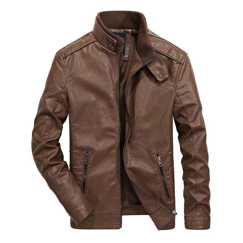 Outfits Men Autumn Fashion Leather Jacket