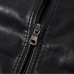Men Thin Inner Solid Leather Jacket -