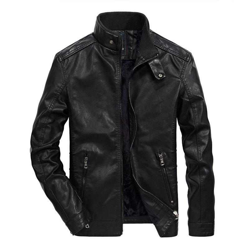 Best Men Thin Inner Solid Leather Jacket