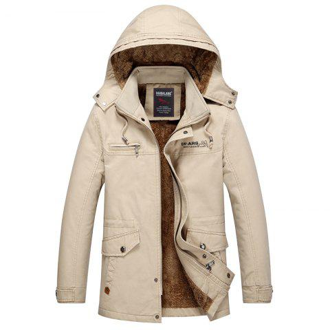 Online Men Winter Solid Warm Coat