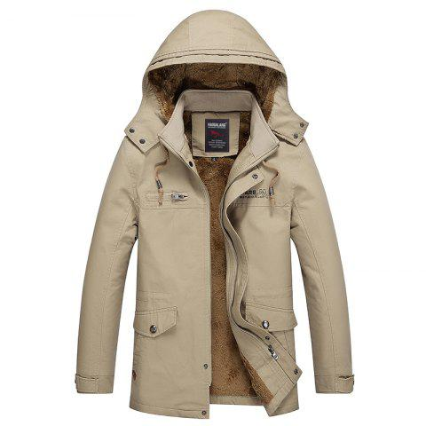 Shop Men Winter Solid Warm Coat