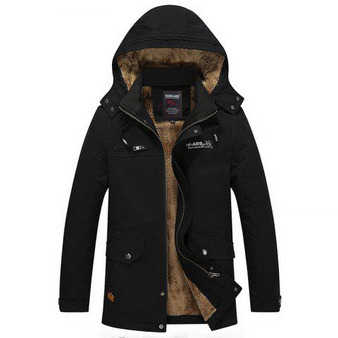Sale Men Winter Solid Warm Coat