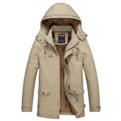 Men Winter Solid Warm Coat -