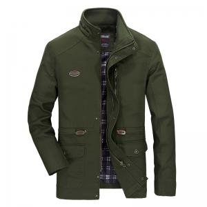 Men Solid Autumn Coat -