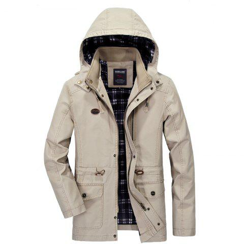 Discount Men Solid Autumn Coat