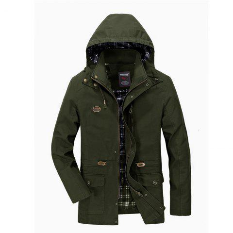 Chic Men Solid Autumn Coat