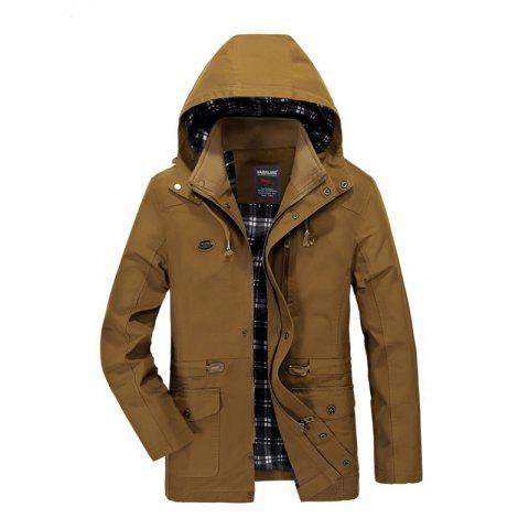 Latest Men Solid Autumn Coat