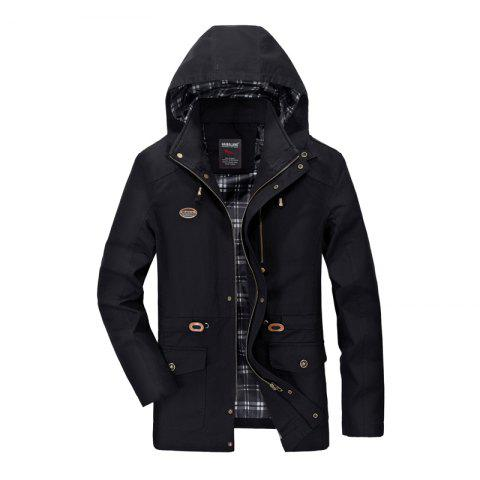 Trendy Men Solid Autumn Coat