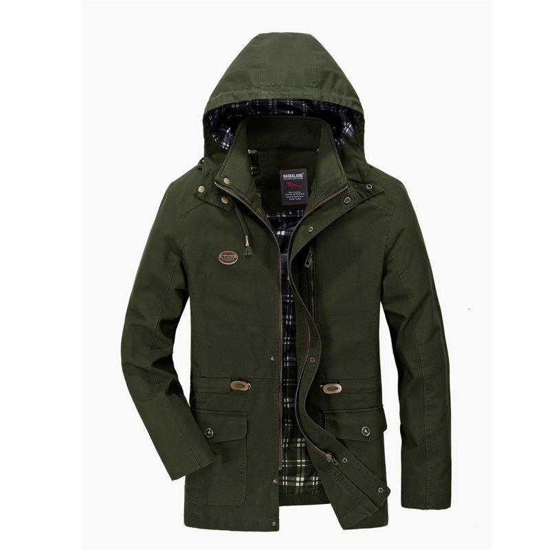 Shops Men Solid Autumn Coat