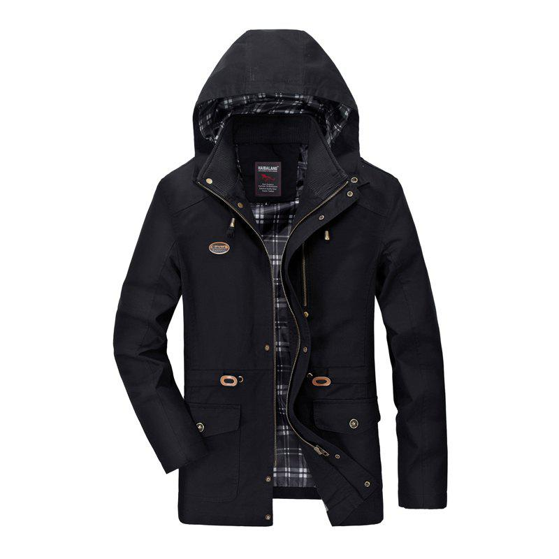 Hot Men Solid Autumn Coat