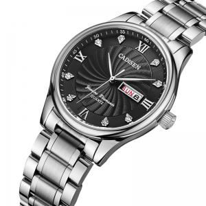 CADISEN C2012M Men Stainless Steel Waterproof Quartz Watch -