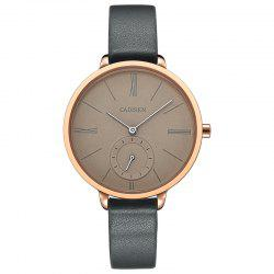 CADISEN C6135 Contracted Leather Quartz Quartz Femmes Montre -