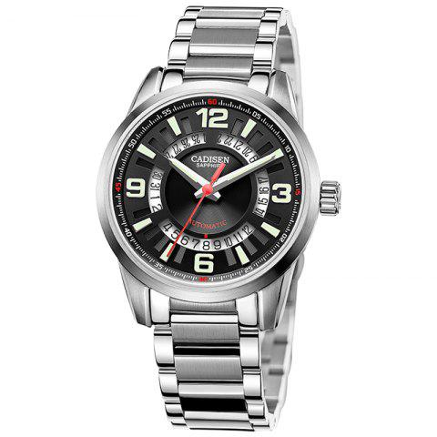 Best CADISEN C8100 Men Stainless Steel Case Automatic Wristwatch