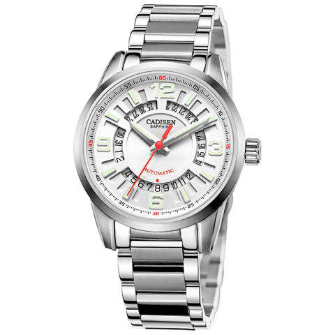 Latest CADISEN C8100 Men Stainless Steel Case Automatic Wristwatch