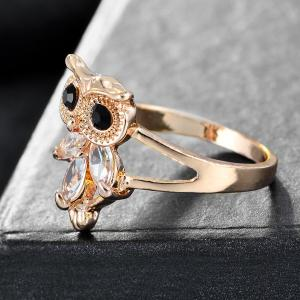 2017 New Europe Style Jewelry Cheap Silver Gold Silver Color Crystal Owl Rings for women Jewelry For Women Anel Feminino A0219 -