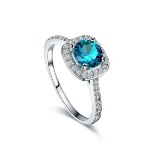 9 Colors Rhinestone Ring for Women Vintage Jewelry Fashion Zircon Rings White Crystal Bijoux Bague for Wedding Wholesale A0020 -