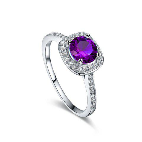 Best 9 Colors Rhinestone Ring for Women Vintage Jewelry Fashion Zircon Rings White Crystal Bijoux Bague for Wedding Wholesale A0020