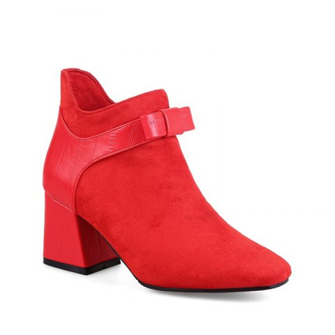 Buy Women's Shoes Winter Fashion Bootie Square Toe Ankle Boots