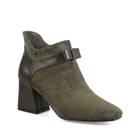 Chic Women's Shoes Winter Fashion Bootie Square Toe Ankle Boots