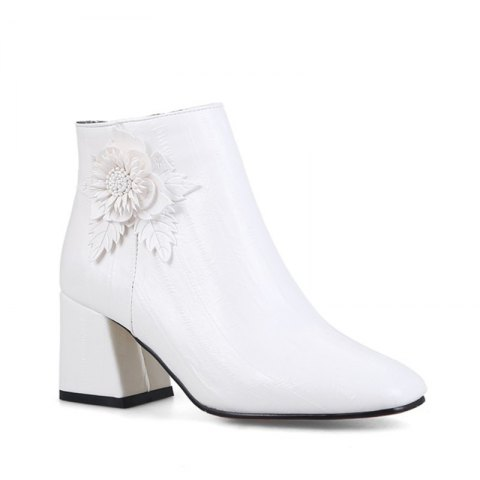 Discount Women's Shoes Leatherette Winter Fashion Square Toe Booties Ankle Boots
