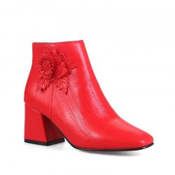 Women's Shoes Leatherette Winter Fashion Square Toe Booties Ankle Boots -