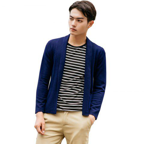 Shops Men's Basic Long Sleeve V Neck Knitted Cardigan