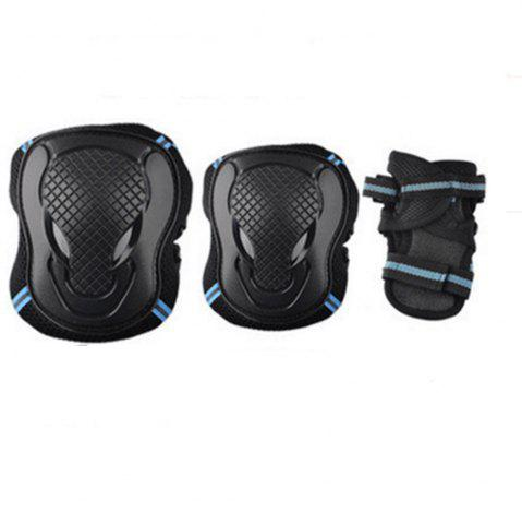 Chic Safeguard Knee Elbow Wrist Support Pad Set Equipment for Adults Boys and Girls