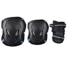 Safeguard Knee Elbow Wrist Support Pad Set Equipment for Adults Boys and Girls -