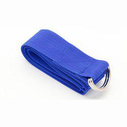 Yoga Stretch Strap D-anneau taille jambe Fitness Ceintures ajustables -