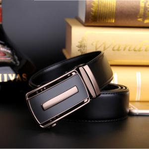 Men's Bussiness Leather Ratchet Belt with Automatic Adjustable Buckle G88972 -
