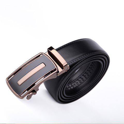 Trendy Men's Bussiness Leather Ratchet Belt with Automatic Adjustable Buckle G88972