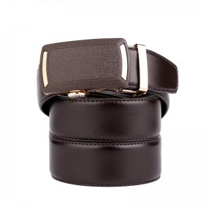 Men's Leather Belt  Dress Ratchet  with Nickel-free Automatic Buckle G89001 -