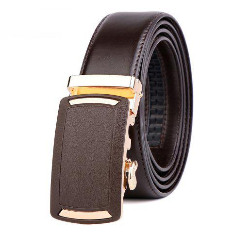 New Men's Leather Belt  Dress Ratchet  with Nickel-free Automatic Buckle G89001