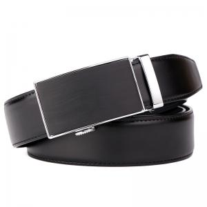 Men's Leather Bussiness Ratchet Belt with Nickel-free Automatic Buckle G89004 -