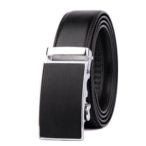 Chic Men's Leather Bussiness Ratchet Belt with Nickel-free Automatic Buckle G89004