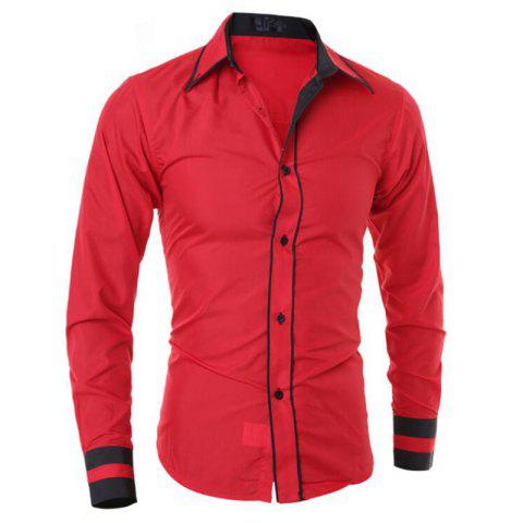 Discount Men's Casual Simple Stripe Long Sleeves Shirts